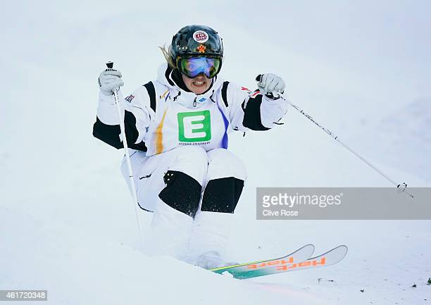 Justine DufourLapointe of Canada competes during the Women's Moguls Final of the FIS Freestyle Ski and Snowboard World Championship 2015 on January...