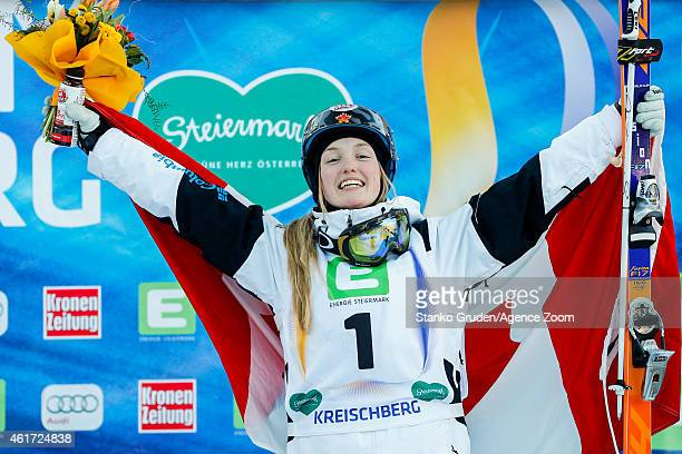 Justine DufourLapointe of Canada takes 1st place during the FIS Freestyle Ski World Championships Men's and Women's Moguls on January 18 2015 in...