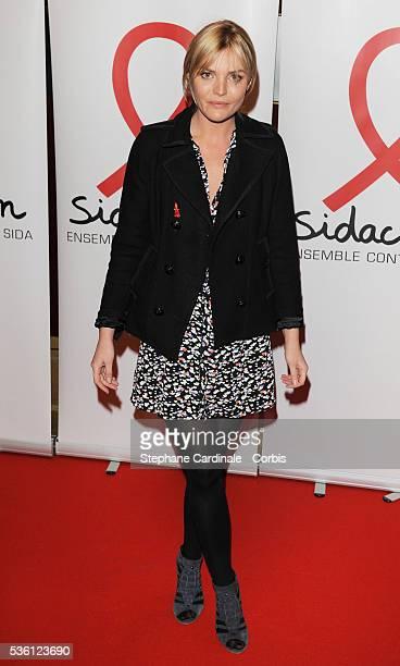 Justine Fraioli attends 'Sidaction 2010' press conference at Casino de Paris