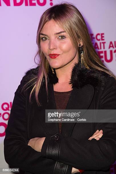 Justine Fraioli attends the 'Qu'est Ce Qu'on A fait Au Bon Dieu' Party At Le Showcase Pont Alexandre III on December 8 2014 in Paris France