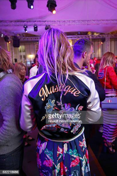 Justine Fraioli attends the Tommy X Nadal cocktail party hosted by Tommy Hilfiger on May 18 2016 in Paris France
