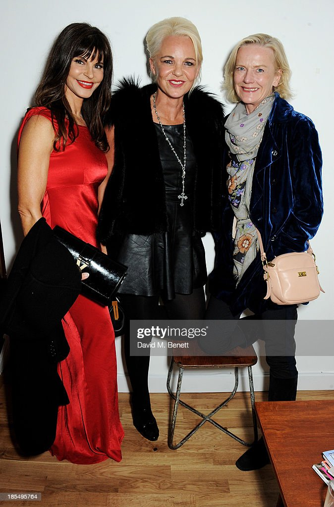 Justine Glenton Amanda Eliasch and Jane Procter attend a screening of 'The Gun The Cake And The Butterfly' by Amanda Eliasch at The Other Club...