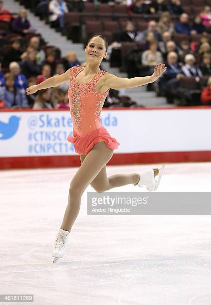 Justine Gosselin skates in the Senior Women Free Program during the 2014 Canadian Tire National Figure Skating Championships at Canadian Tire Centre...