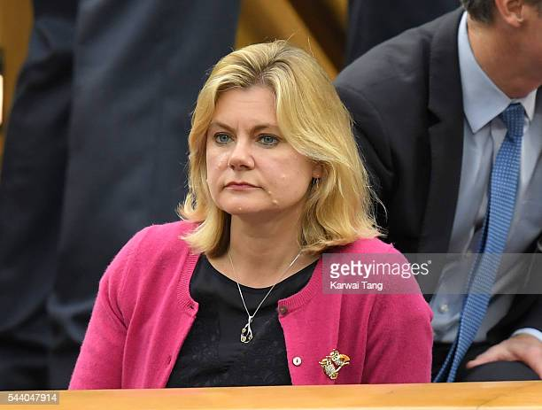 Justine Greening attends day five of the Wimbledon Tennis Championships at Wimbledon on July 01 2016 in London England
