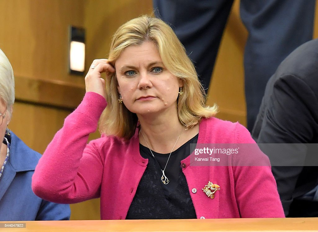 Justine Greening attends day five of the Wimbledon Tennis Championships at Wimbledon on July 01, 2016 in London, England.