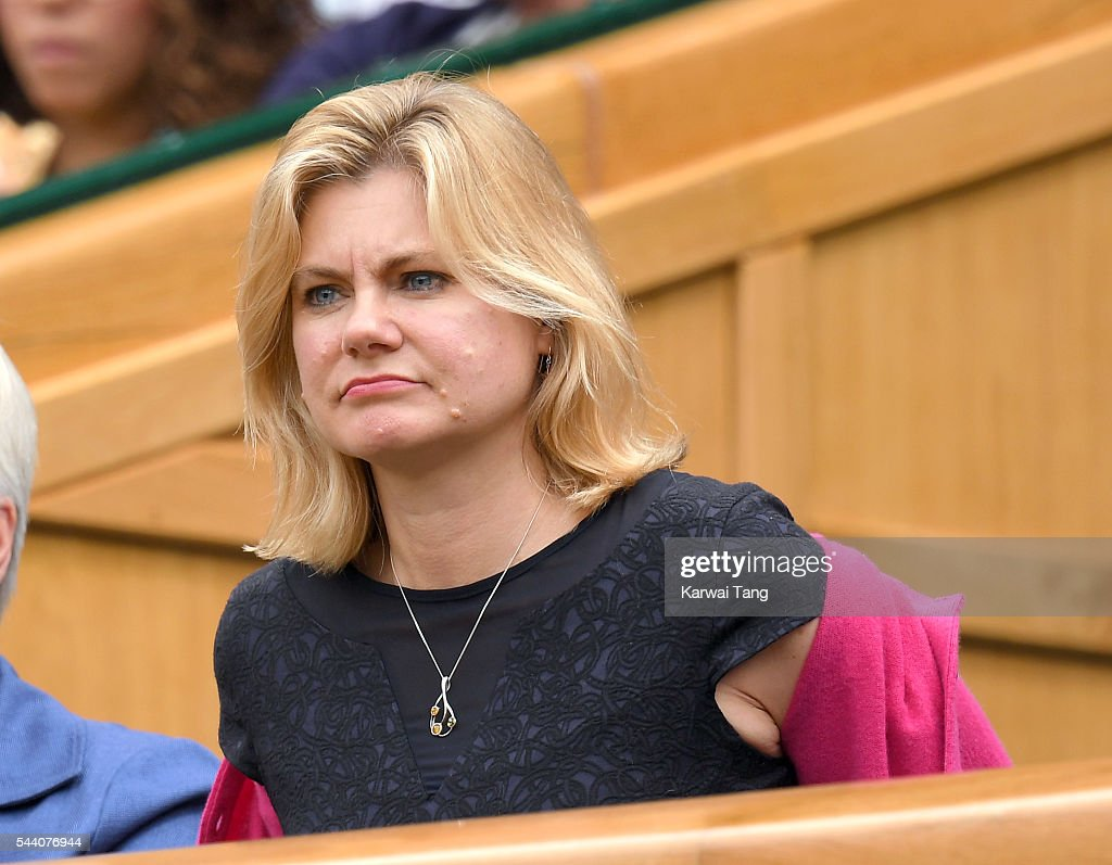 <a gi-track='captionPersonalityLinkClicked' href=/galleries/search?phrase=Justine+Greening&family=editorial&specificpeople=2466449 ng-click='$event.stopPropagation()'>Justine Greening</a> attends day five of the Wimbledon Tennis Championships at Wimbledon on July 01, 2016 in London, England.
