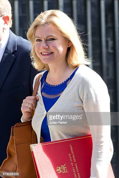 Justine Greening International development secretary attends the first Conservative Cabinet meeting of The new Government at 10 Downing Street on May...