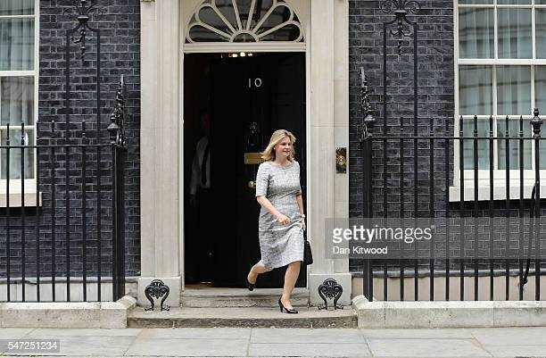 Justine Greening leaves 10 Downing Street where she was appointed as Education Secretary as Prime Minister Theresa May continues to appoint her...