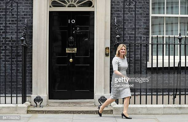Justine Greening leaves Downing Street where she was appointed as Education Secretary as Prime Minister Theresa May continues to appoint her cabinet...