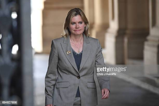 Justine Greening Secretary of State for Education arrives at 10 Downing Street on June 11 2017 in London England Prime Minister Theresa May...
