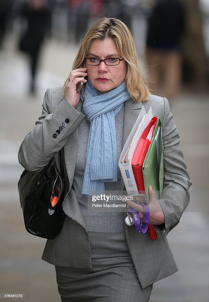 Justine Greening, Secretary of State for International Development, arrives at the Cabinet Office to attend a National Security Council meeting on March 3, 2014 in London, England. Prime Minister David Cameron has held the meeting to discuss the situation in Ukraine.