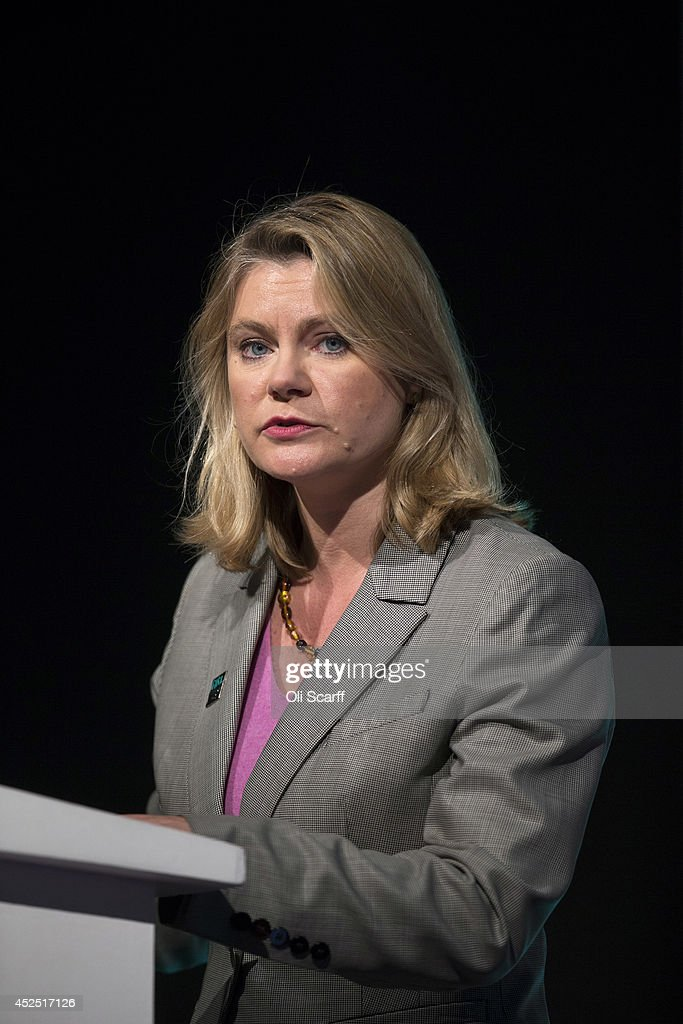 <a gi-track='captionPersonalityLinkClicked' href=/galleries/search?phrase=Justine+Greening&family=editorial&specificpeople=2466449 ng-click='$event.stopPropagation()'>Justine Greening</a>, the Secretary of State for International Development, speaks at the 'Girl Summit 2014' in Walworth Academy on July 22, 2014 in London, England. At the one-day summit the government has announced that parents will face prosecution if they fail to prevent their daughters suffering female genital mutilation (FGM).