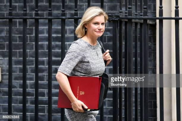 Justine Greening UK education secretary arrives for a special cabinet meeting at number 10 Downing Street in London UK on Thursday Sept 21 2017 UK...