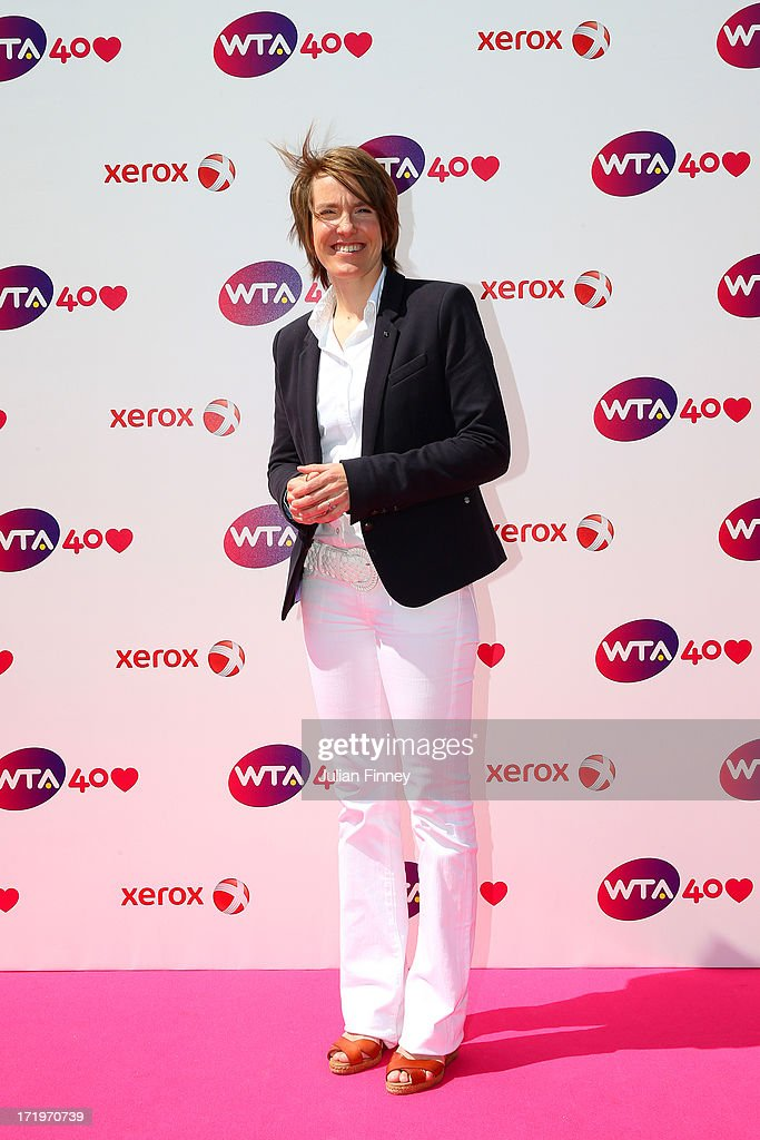 Justine Henin arrives for the WTA 40 Love Celebration during Middle Sunday of the Wimbledon Lawn Tennis Championships at the All England Lawn Tennis and Croquet Club on June 30, 2013 in London, England.