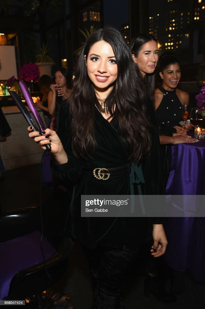 Justine Marjan attends the launch of ghd hair North America Nocturne Holiday Campaign with Olivia Culpo & Justine Marjan on October 5, 2017 in New York City.