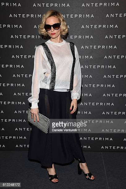 Justine Mattera attends the Anteprima show during Milan Fashion Week Fall/Winter 2016/17 on February 25 2016 in Milan Italy