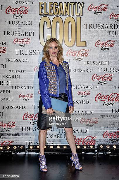 Justine Mattera attends the 'Elegantly Cool Party' CocaCola Trussardi at Magazzini Generali on June 15 2015 in Milan Italy