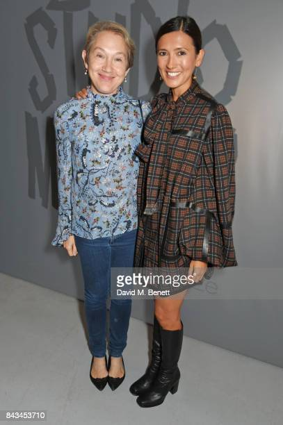 Justine Picardie and Hikari Yokoyama attend The 2017 Tiffany Co and Outset Studiomakers Prize at The Vinyl Factory on September 6 2017 in London...