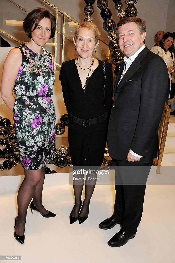 Justine Picardie (C) attends a private view of the new CHANEL flagship boutique on New Bond Street on June 10, 2013 in London, England.