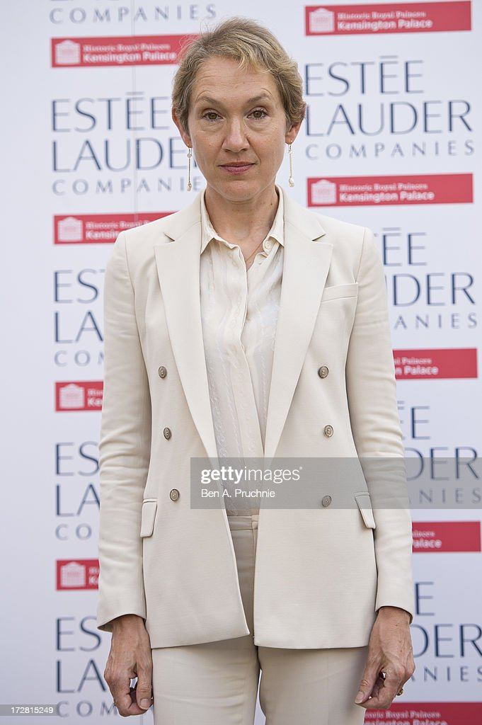 Justine Picardie attends the launch party for the Fashion Rules exhibition, a collection of dresses worn by HRH Queen Elizabeth II, Princess Margaret and Diana, Princess of Wales at Kensington Palace on July 4, 2013 in London, England.
