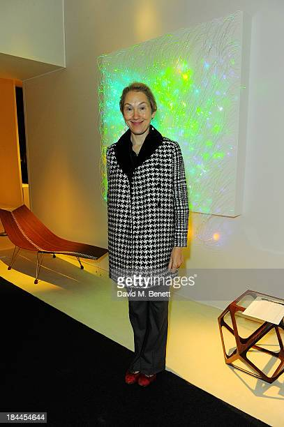 Justine Picardie attends the Moet Hennessy London Prize Jury Visit during the PAD London Art Design Fair at Berkeley Square Gardens on October 14...