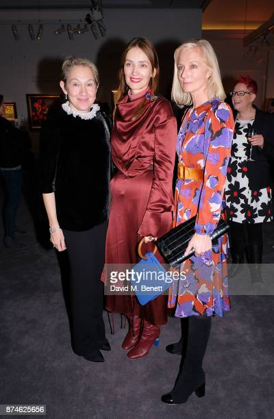 Justine Picardie Roksanda Ilincic and Joely Richardson attend the Harper's Bazaar Power List of 150 visionary women sponsored by She's Mercedes at...