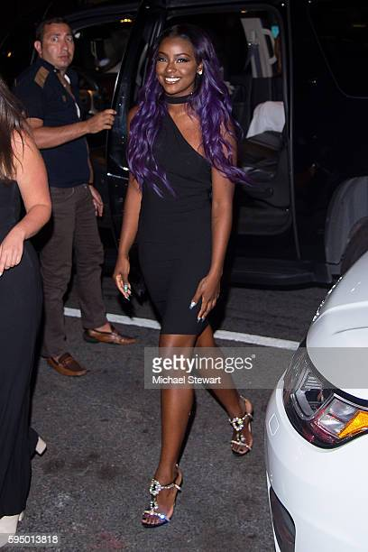 Justine Skye arrives at her birthday celebration at the Jue Lan Club on August 24 2016 in New York City