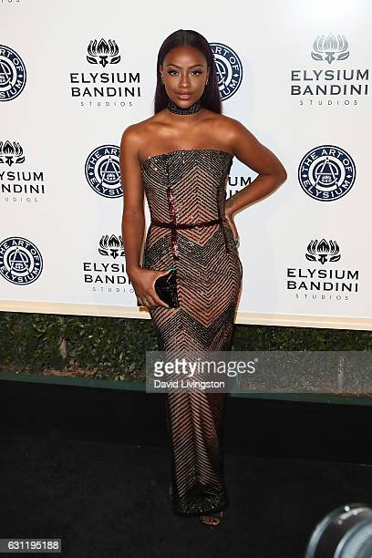 Justine Skye arrives at The Art of Elysium presents Stevie Wonder's HEAVEN celebrating the 10th Anniversary at Red Studios on January 7 2017 in Los...