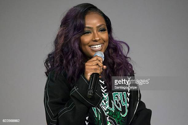 Justine Skye attends Apple Store Soho Presents Meet The Musician at Apple Store Soho on November 11 2016 in New York City