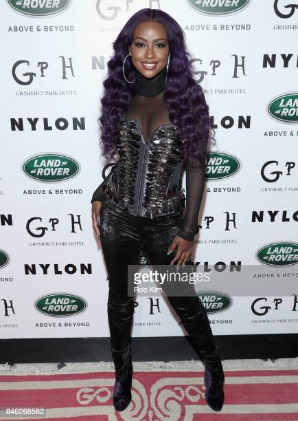 Justine Skye attends NYLON's Rebel Fashion Party powered by Land Rover at Gramercy Terrace at Gramercy Park Hotel on September 12 2017 in New York...