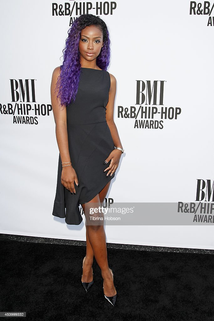 <a gi-track='captionPersonalityLinkClicked' href=/galleries/search?phrase=Justine+Skye&family=editorial&specificpeople=11149408 ng-click='$event.stopPropagation()'>Justine Skye</a> attends the 2014 BMI R&B/Hip-Hop awards at the Pantages Theatre on August 22, 2014 in Hollywood, California.