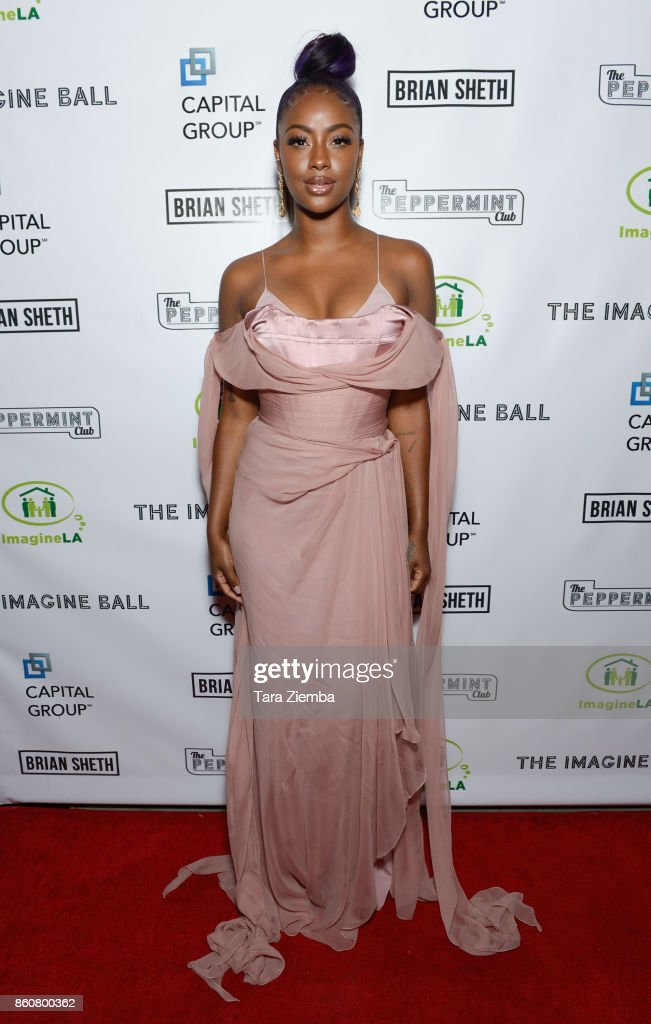 Justine Skye attends The Imagine Ball at The Peppermint Club on October 12, 2017 in Los Angeles, California.