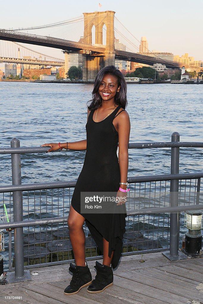 Justine Skye attends the 'Surfer's Paradise' album release party at Beekman Beer Garden Beach Club on July 16, 2013 in New York City.