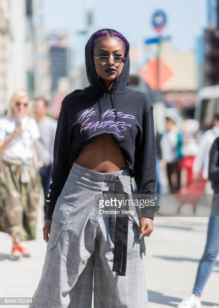 Justine Skye seen in the streets of Manhattan outside Public School during New York Fashion Week on September 10 2017 in New York City