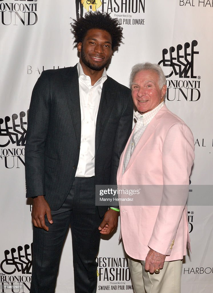 Justise Winslow and Nick Buoniconti attends Destination Fashion 2016 to benefit The Buoniconti Fund to Cure Paralysis, the fundraising arm of The Miami Project to Cure Paralysis at Bal Harbour Shops on March 5, 2016 in Miami, Florida.