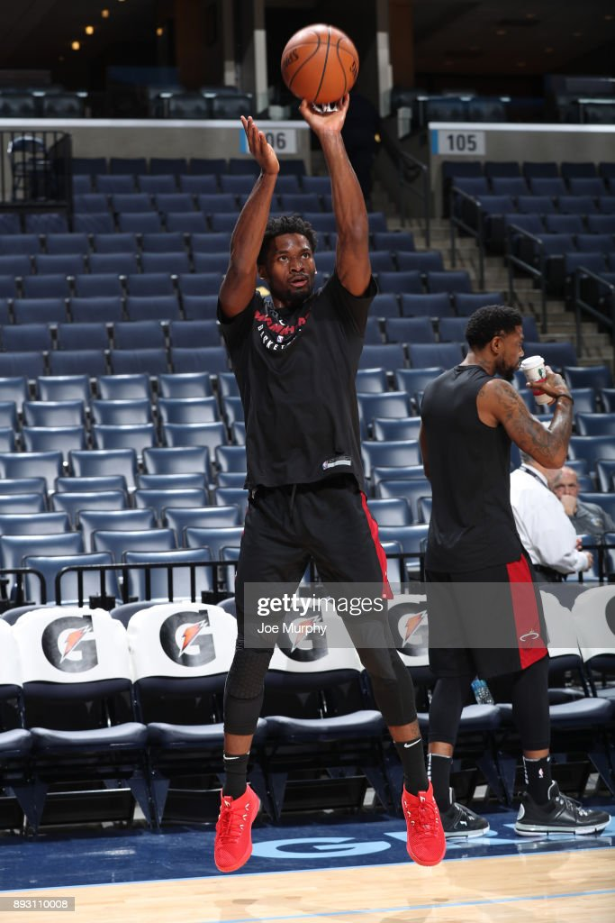 Justise Winslow #20 of the Miami Heat warms up before the game against the Memphis Grizzlies on December 11, 2017 at FedExForum in Memphis, Tennessee.