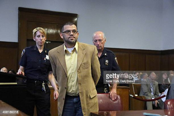 Justo Santos appears in Manhattan Supreme Court Santos was arrested after 26 years on the run He was indicted for the murder of Jose Martinez in 1986...