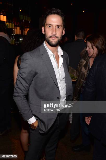 Juston Street attends the after party for Dog Years presented by EFFEN Vodka during 2017 Tribeca Film Festival at The Griffin PopUp on April 22 2017...