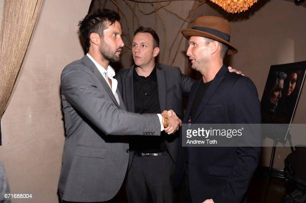 Juston Street Brian Cavallaro and John Martin attend the after party for Dog Years presented by EFFEN Vodka during 2017 Tribeca Film Festival at The...