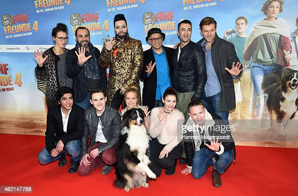 Justus Schliengensiepen Qurin Oettl Harald Gloeoeckler Neele Marie Nickel Valeria Eisenbart and the Cast attend the premiere of the film 'Fuenf...