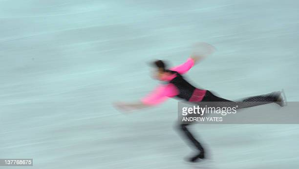 Justus Strid of Denmark performs during the men's short program on day four of the ISU European Figure Skating Championships at the Motorpoint Arena...