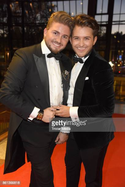 Justus Toussis and Luca Bazzanella attend the 29 KoelnBall on October 14 2017 in Cologne Germany