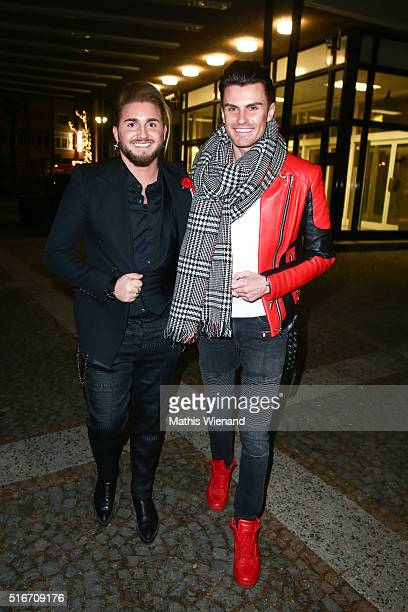 Justus Toussis and PaulHenry Duval attend Justus Toussis Birthday Party at Mio3 on March 19 2016 in Wuppertal Germany