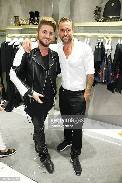 Justus Toussis and Philipp Plein attend the Philipp Plein Store Event on June 2 2016 in Duesseldorf Germany
