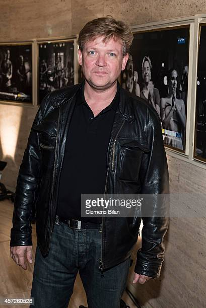 Justus von Dohnanyi attends the 'Jan Josef Liefers Soundtrack meines Lebens' Premiere at Astor Film Lounge on October 15 2014 in Berlin Germany