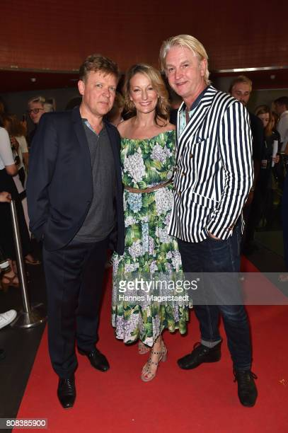 Justus von Dohnanyi Monika Gruber and Detlev Buck during the 'Das Pubertier' Premiere at Mathaeser Filmpalast on July 4 2017 in Munich Germany