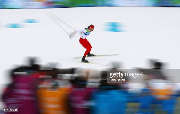Justyna Kowalczyk of Poland competes during the CrossCountry Skiing Ladies' 10 km Free on day 4 of the 2010 Winter Olympics at Whistler Olympic Park...