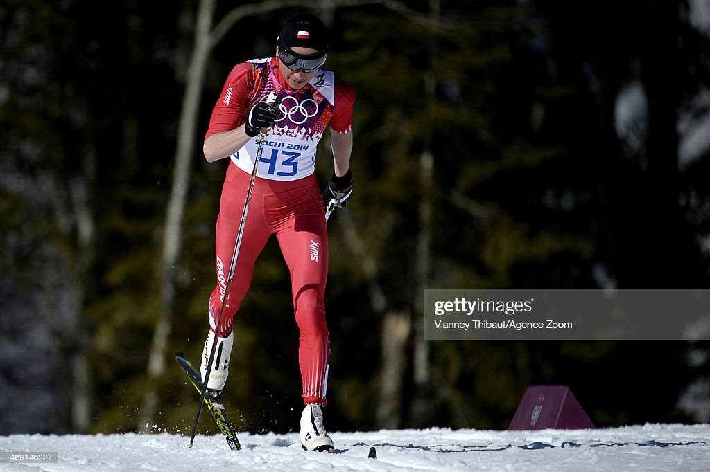 Justyna Kowalczyk of Poland wins gold medal during the Cross-Country Women's 10km Classic at the Laura Cross-country Ski & Biathlon Center on February 13, 2014 in Sochi, Russia.