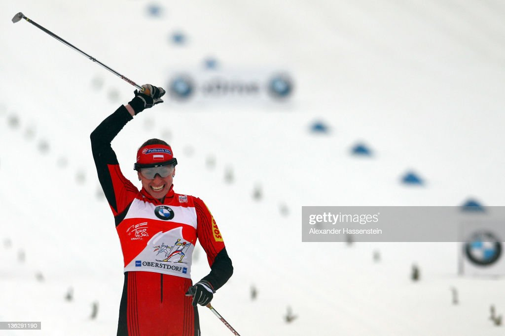 Justyna Kowalczyk of Poland wins the women's 1.2 km classic sprint event for the FIS Cross Country World Cup Tour de Ski on December 31, 2011 in Oberstdorf, Germany.