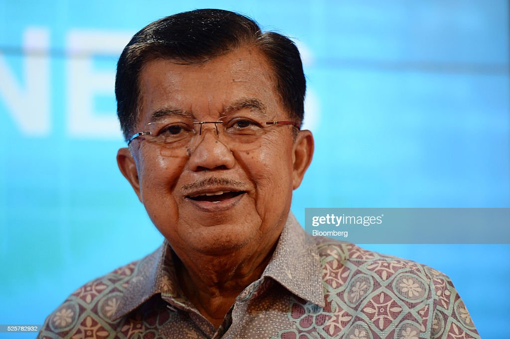 <a gi-track='captionPersonalityLinkClicked' href=/galleries/search?phrase=Jusuf+Kalla&family=editorial&specificpeople=667420 ng-click='$event.stopPropagation()'>Jusuf Kalla</a>, Indonesia's vice president, speaks during the AIC World Congress conference in Jakarta, Indonesia, on Friday, April 29, 2016. Kalla expects gross domestic product (GDP) to expand more than 5 per cent this year. Photographer: Dimas Ardian/Bloomberg via Getty Images